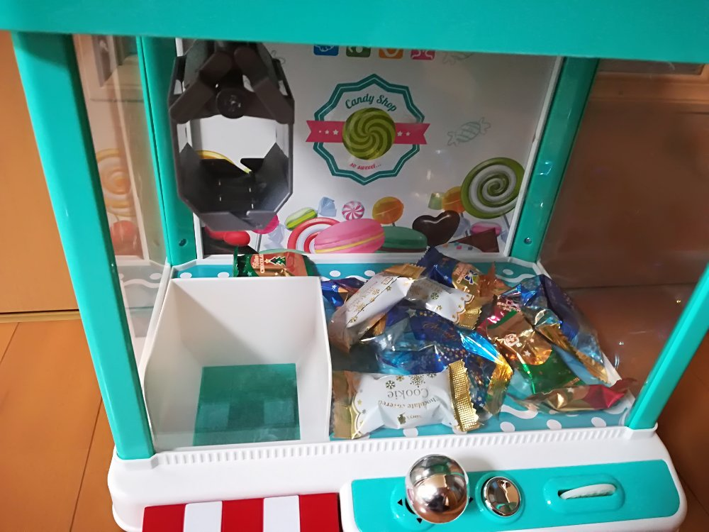おもちゃのクレーンゲーム(お菓子)