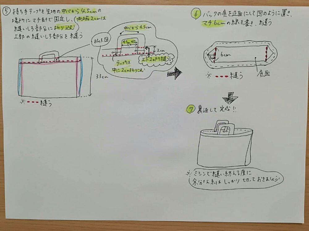 絵本袋の作り方2
