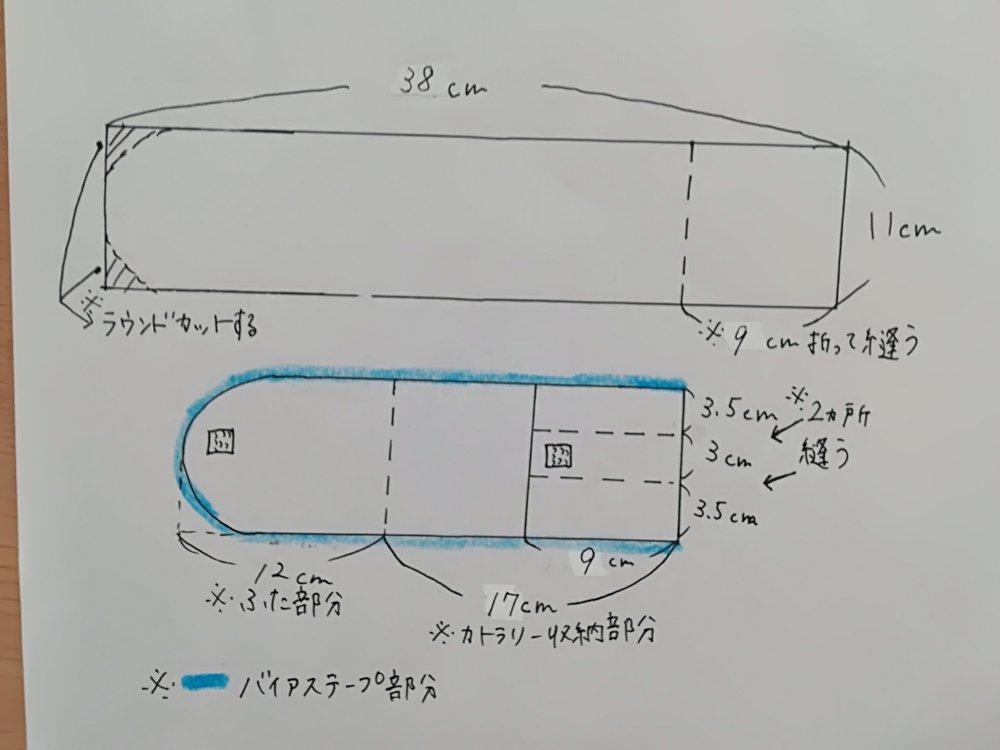 カトラリーケースの作り方
